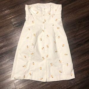 J. Crew Dresses - 🧵 J Crew summer cotton pineapple dress S